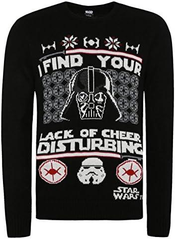 Con licencia oficial de Disney Star Wars Jersey de Navidad, con ...