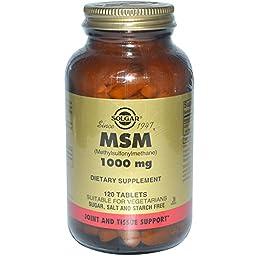 Solgar, MSM (Methylsulfonylmethane), 1000 mg, 120 Tablets - 2pc