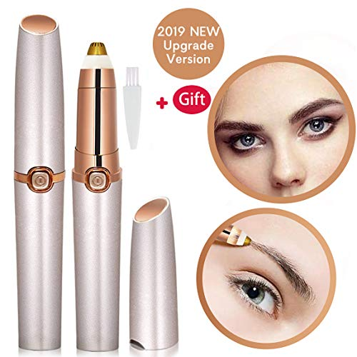 Eyebrow Trimmer for Women Eyebrow Hair Remover Electric Painless Ficial Hair Remover(Battery NOT Included) (Rose Gold)