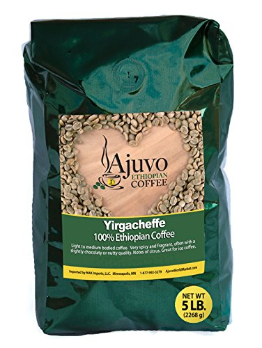 Ethiopian Yirgacheffe Coffee - Roasted (5 lb. Whole Bean)