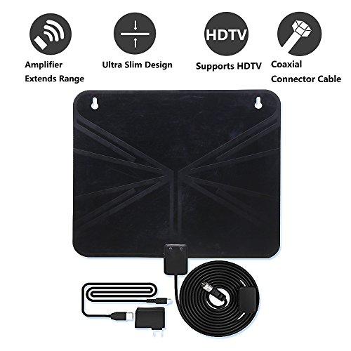 All4life Amplified HDTV 1080P Digital Antenna 50 Miles Range Indoor HDTV Antenna Amplifier