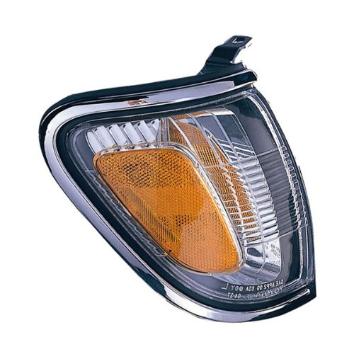 Side Park Signal Turn (2001-2002-2003-2004 Toyota Tacoma Pickup Truck Park Corner Lamp (With Chrome Trim Bezel) Turn Signal Marker Light Right Passenger Side (01 02 03 04))