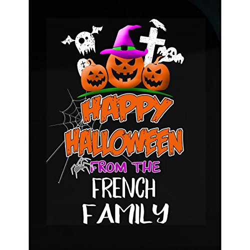 Prints Express Happy Halloween from French Family Trick Or Treating - Sticker -