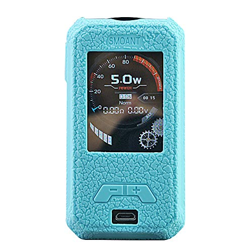 DSC-Mart Texture Case for SMOANT CHARON Mini 225W TC MOD Protective Silicone Skin Rubber Cover Sleeve Wrap Gel (TFblue)