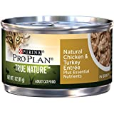 Purina Pro Plan Wet Cat Food, Tue Nature, Natural Turkey & Chicken Entrée, 3-Ounce Can, Pack of 24