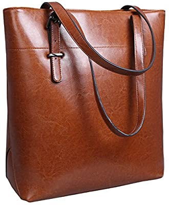 Iswee Womens Leather Tote Bag Shoulder Bags Handbags Purse for Ladies