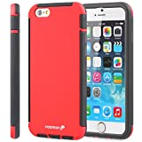 Fosmon (HYBO-SNAP) Apple iPhone 6s Plus / 6 Plus Case - Hybrid Protective Cover with Built-In Screen Protector for iPhone 6s Plus / 6 Plus (Red)
