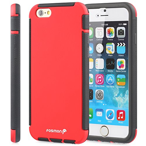 Fosmon HYBO-SNAP Durable Full Body Protection Hybrid Case with Built-In Screen Protector for Apple iPhone 6 Plus/6s Plus (5.5