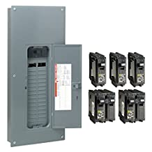 Square D by Schneider Electric HOM3060M150PCVP Homeline 150 Amp 30-Space 60-Circuit Indoor Main Breaker Load Center with Cover - Value Pack (Plug-on Neutral Ready), ,