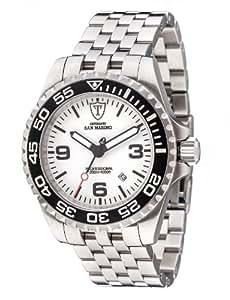 DeTomaso San Marino Dt1007-C - Reloj de caballero automático, correa de acero inoxidable color plata
