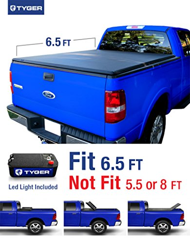 Tyger Auto TG-BC3F1017 TRI-FOLD Truck Bed Tonneau Cover 2004-2008 Ford F-150 (Excl. 2004 Heritage); 2005-2008 Lincoln Mark LT | Styleside 6.5' Bed