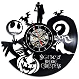 The Nightmare Before Christmas Vinyl Record Wall Clock - Decorate your home with Modern Art - Gift for kids, girls and boys - Win a prize for a feedback
