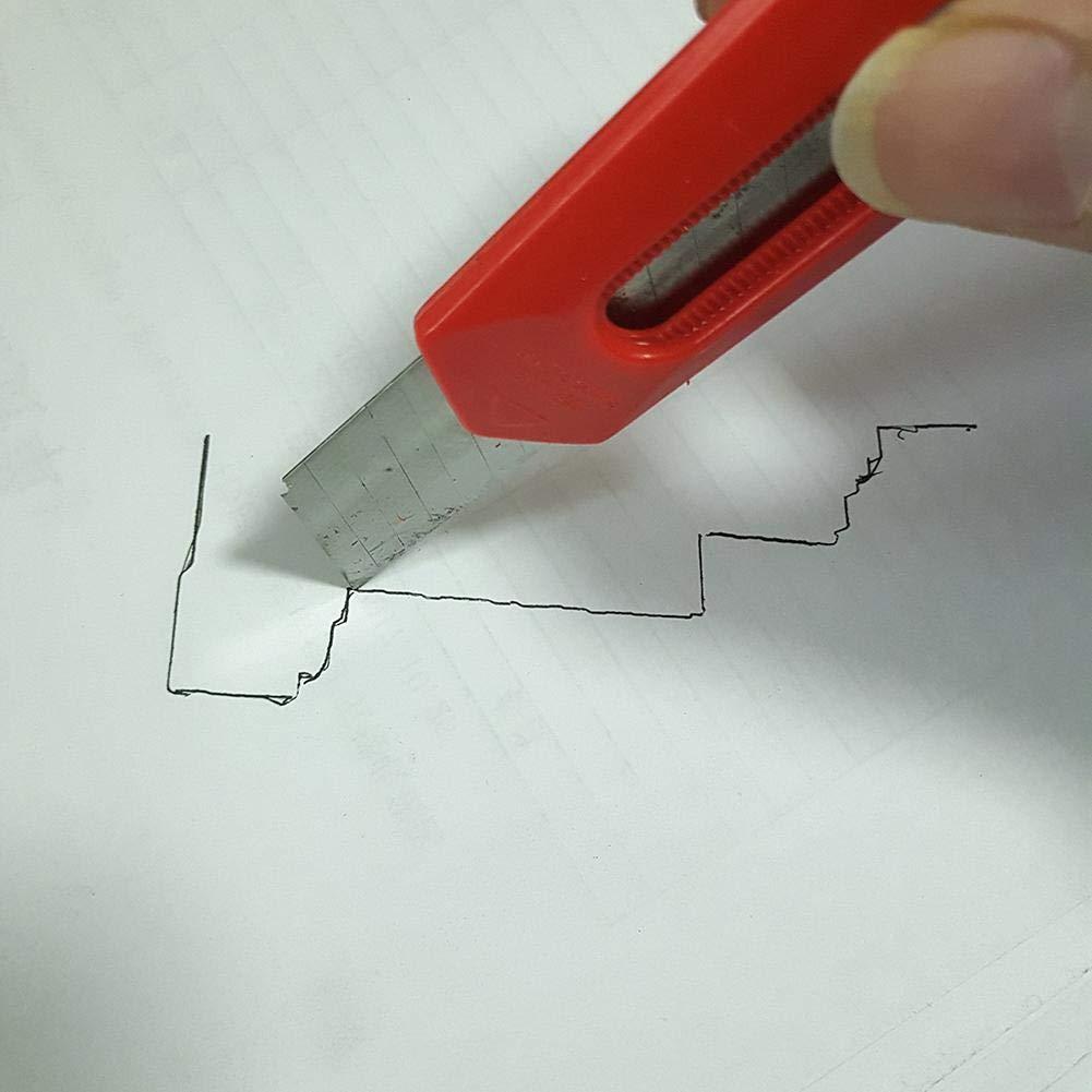 Regla de pl/ástico irregular para moldear y contornear rojo