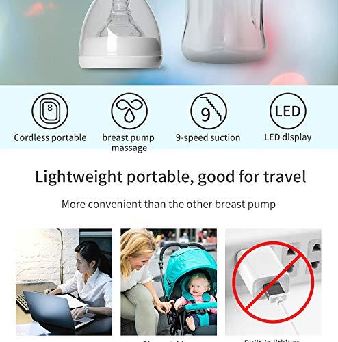 Single Electric Breasfeeding Pump Baby Milk Saver Nipple Scution ...