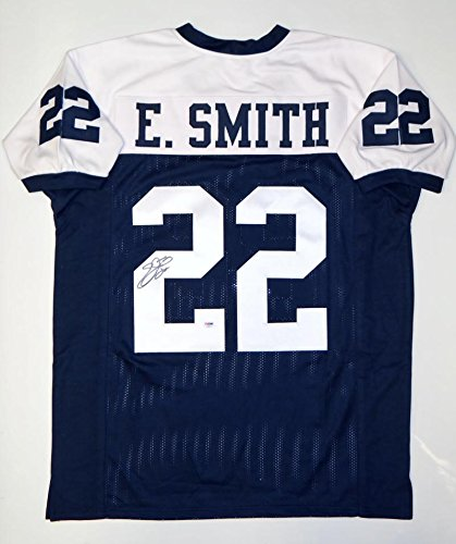 d1b0f5910 Amazon.com  Signed Emmitt Smith Jersey - Blue White Pro Style - PSA DNA  Certified - Autographed NFL Jerseys  Sports Collectibles