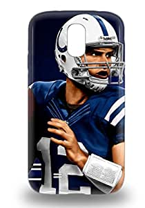 Galaxy 3D PC Case Cover Protector Specially Made For Galaxy S4 NFL Indianapolis Colts Andrew Luck #12 ( Custom Picture iPhone 6, iPhone 6 PLUS, iPhone 5, iPhone 5S, iPhone 5C, iPhone 4, iPhone 4S,Galaxy S6,Galaxy S5,Galaxy S4,Galaxy S3,Note 3,iPad Mini-Mini 2,iPad Air )