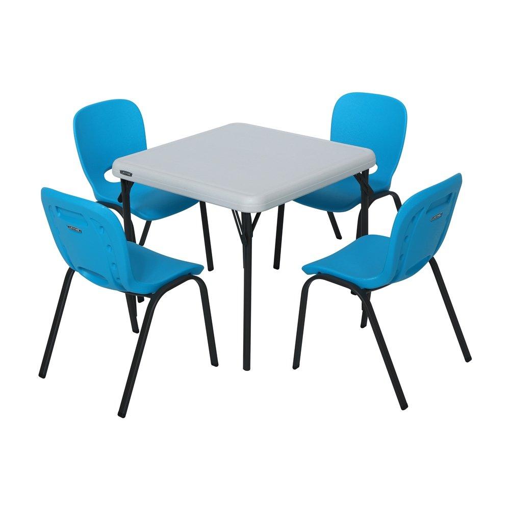 Lifetime - Mesa y silla Set - Azul y Almendra: Amazon.es: Deportes ...