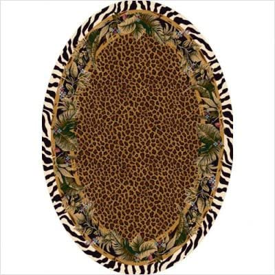 Signature Jungle Safari Skins Oval Rug Size Oval 5 4 x 7 8