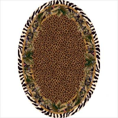 Signature Jungle Safari Skins Oval Rug Size: Oval 5'4