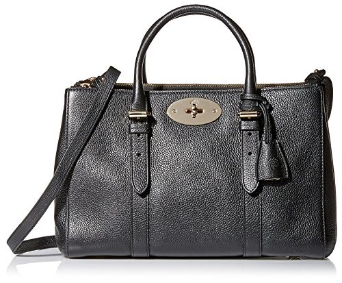 Mulberry Women's Small Bayswater Double Zip Tote, Black