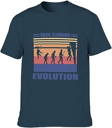 Camiseta de algodón para hombre con diseño de escalada en ...