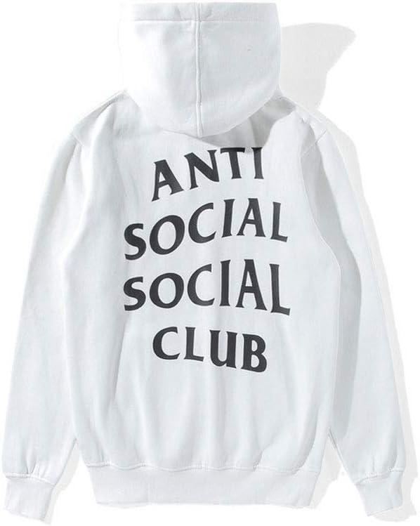 QYS Felpe con Cappuccio Pullover a Maniche Lunghe da Donna Anti Social Social Club,Natural,M