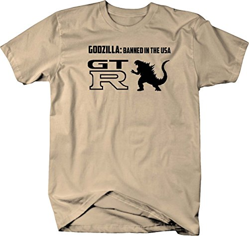 Nissan GTR Skyline Godzilla Banned USA Racing Performance Mens T Shirt - 4XL