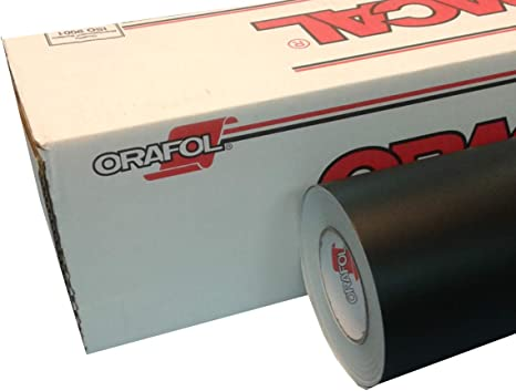 Amazon Com 24 X 10 Ft Roll Of Oracal Vinyl For Craft Cutters And Vinyl Sign Cutters Black Matte 100 Feet Arts Crafts Sewing