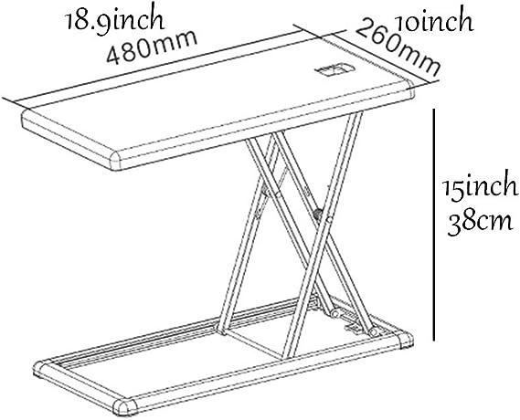 Muebles TPortable Aluminio Mesa Plegable De Pie del Escritorio del ...