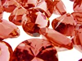 "Acrylic Crystal Diamond Confetti Table Scatter 3/4"" 1 lb. Bag Red"
