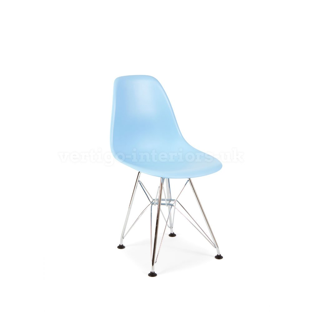 *Set of 6* High Quality Eames Style Kids DSR Dining Playroom Bedroom Side Chair - Blue