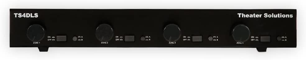 Theater Solutions TS4DLS Four Zone Dual Source Selector with Volume Controls Black