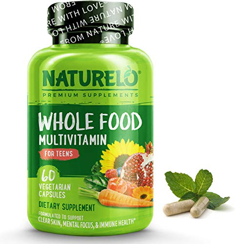 NATURELO Whole Food Multivitamin for Teens – Vitamins and Minerals for Teenage Boys and Girls – Supplement for Active…