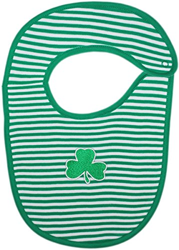 Irish Baby Shamrock Striped Newborn Bib