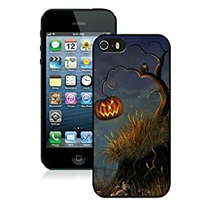 2014 New Style Iphone 5S Protective Cover Case Halloween Tree iPhone 5 5S TPU Case 1 Black