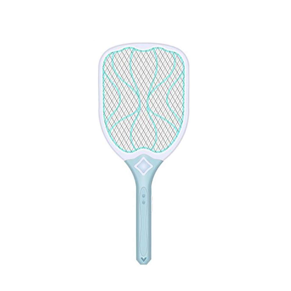 Mosquito killer ZMIN Electric Mosquito Swatter LED Auxiliary Lighting ABS Material Pressure Resistance Intelligent Elimination of Surplus Power Humanized Design (Color : Blue) by Mosquito killer
