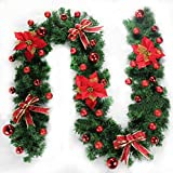 2.7m Green And Red Christmas Decoration Rattan Christmas Scene Layout Colorful Christmas Decorations Christmas Tree Cane Home Decoration With Lights