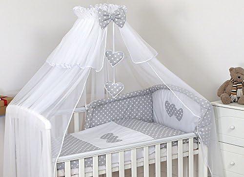 De Luxe 9 piezas Juego de cama de bebé para cuna 140 x 70 ...