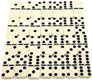 Dominoes 28 Piece, Traditional Domino Game, Mini Dominoes, White with Black Spots Dots for Both Adults and Chi