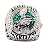 New 2017 Philadelphia Eagles Championship Rings for Man (with Box) Gift for Fans (one Ring Without Box, 11)