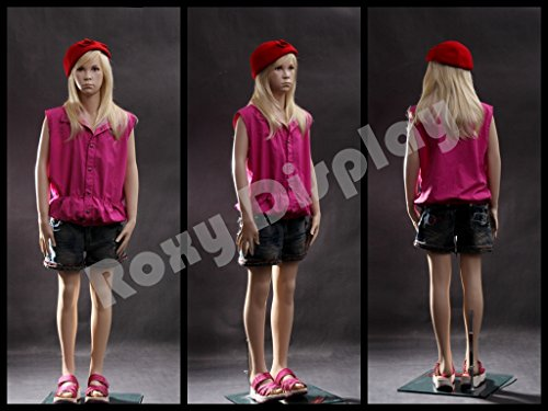 Mannequin Fiberglass ((MZ-SK02) ROXYDISPLAY™ Realistic child mannequin. Fiberglass construction. Base included.)