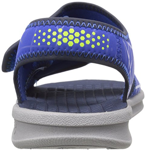 New Balance Sport 2 Strap Adjustable Sandal (Infant/Toddler/Little Kid/Big Kid), Grey/Blue, 38.5 M EU