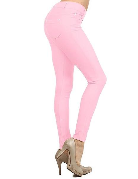 Enimay Women S Colored Jean Look Jeggings Tights Spandex Leggings