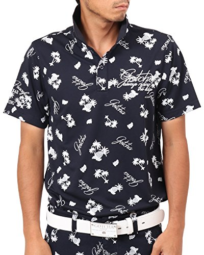 [ガッチャ ゴルフ] GOTCHA GOLF ポロシャツ ドライ リゾート カラー ポロ 182GG1218 ネイビー Sサイズ