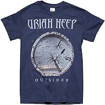 Rock & Roll T Shirts Uriah Heep Dusk Blue Outsider Album Men's Tee