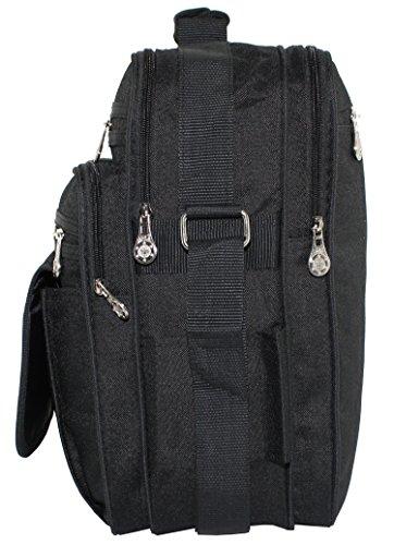 Messenger Bag, Arbeitstasche, XL, Schultertasche, Umhängetasche, Tasche, Hochrformat, Schwarz, Herrentasche
