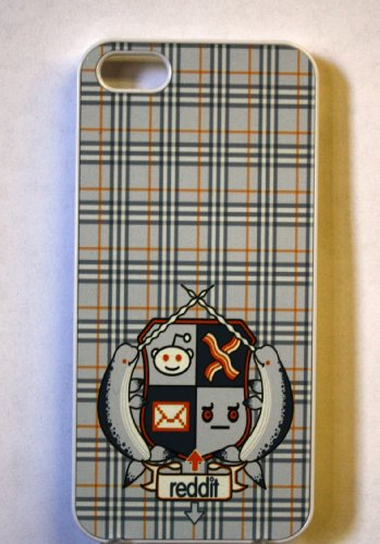 (317wi4) Reddit Coat of Arms Apple iPhone 4 / 4S White Case Narwhal Bacon