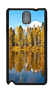 Samsung Note 3 Case Beautiful Autumn Scenery PC Custom Samsung Note 3 Case Cover Black