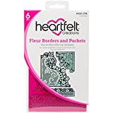 Heartfelt Creations Fleur Borders & Pockets .15'' to 5.75'' Emboss Dies