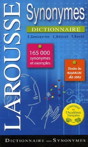 Dictionnaire Des Synonymes Poche (Larousse) / Dictionary of Synonyms Pocket (French Edition)